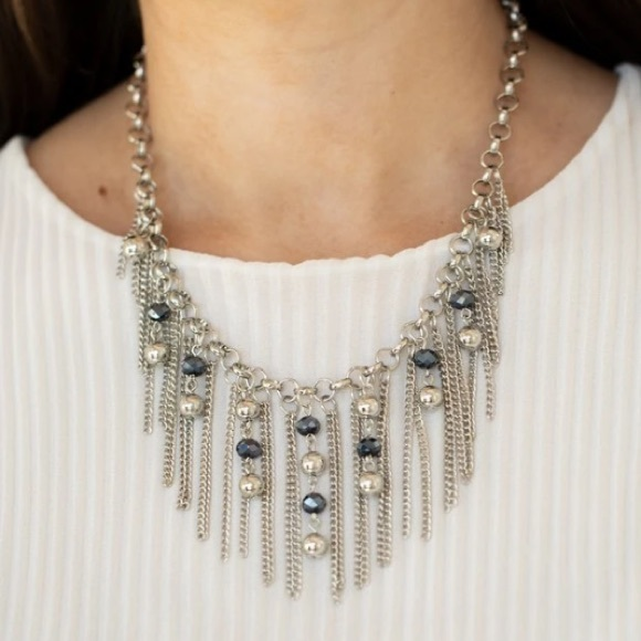 3/$20 Paparazzi Ever Rebellious Blue Beaded Necklace & Earring Set